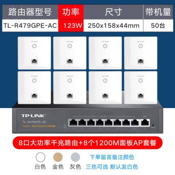 TP-LIK 5 gデュアルアルバーンギガ86型無線パネル式AP壁ルータ家庭用poe給電フルハウスwifiネットワークカバーセット大電力8口POEギガルート+8つのパネル