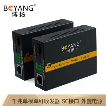 博揚(BOYANG)BY-WG 613 A/Bギガ単一モード単一繊維トランシーバ光電変換器は14機のラック防雷SCインターフェースをサポートします。